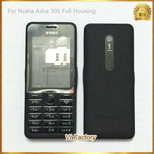 Dual SIM Back cover Battery Door Case Full Housing Cover Door Frame for Nokia Asha 301 n301 Replacement Parts Complete Housing(China (Mainland))