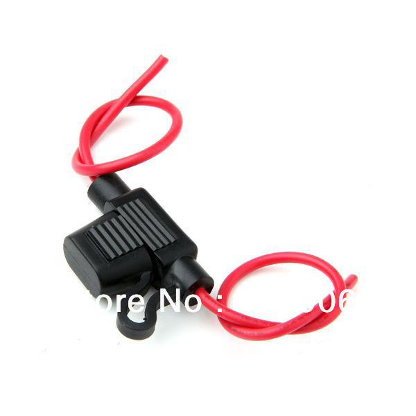 Free shipping 14AWG Wire In-line Car Automotive Mini Blade Fuse Holder Fuseholder 20A