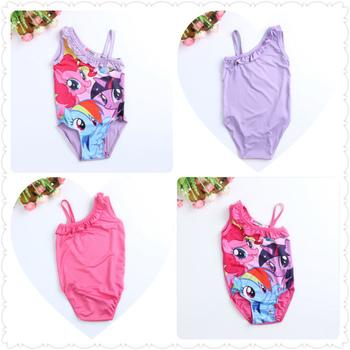 New 2015 baby Girls Kids Children My Little Pony Swimsuit Swimwear one piece 2-6Y Swim Clothing Sunbath Beachwear Bikini Tankini