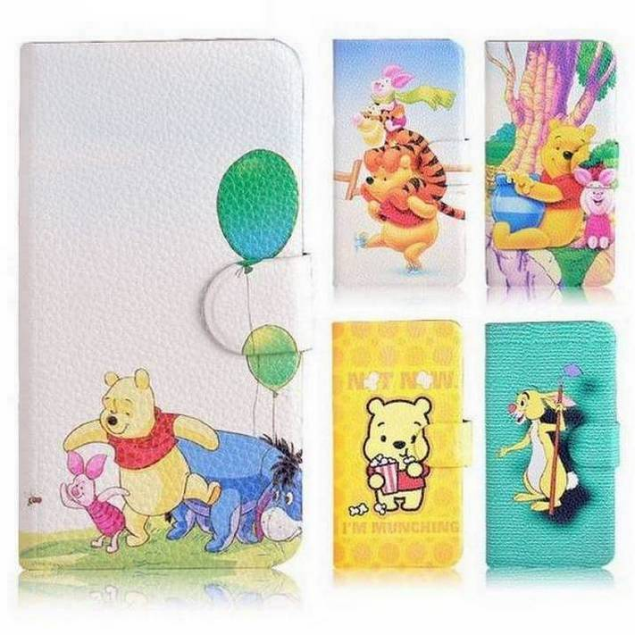 2014 new Winnie the pooh pig tigger rabbit magnetic leather flipcase cover for Samsung Galaxy Style Duos i829(China (Mainland))