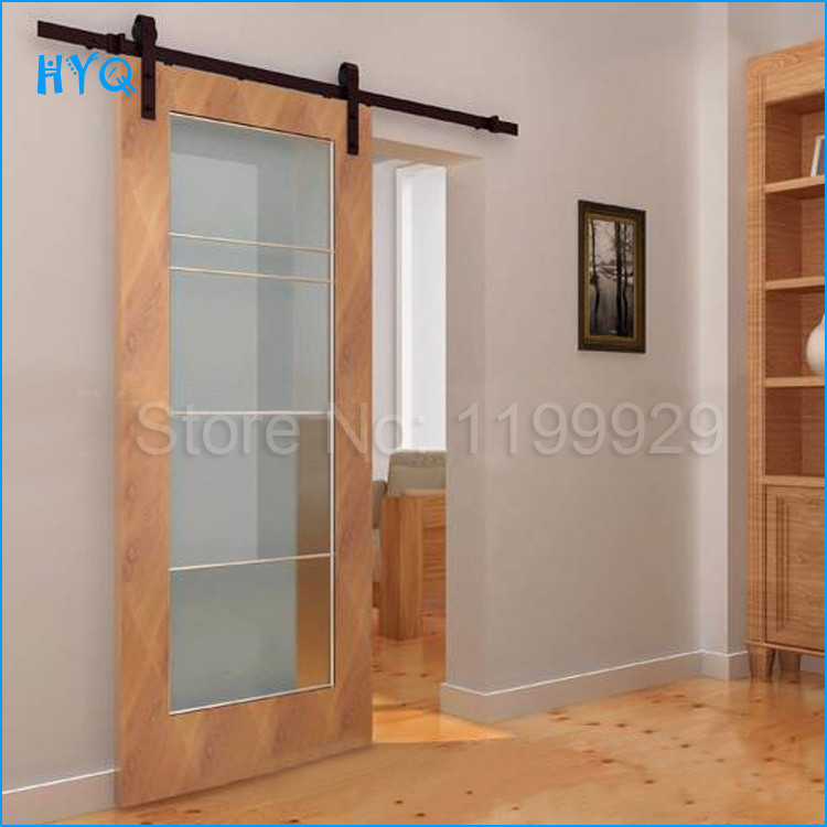 High quality sliding barn door system hardware cast iron for Quality doors