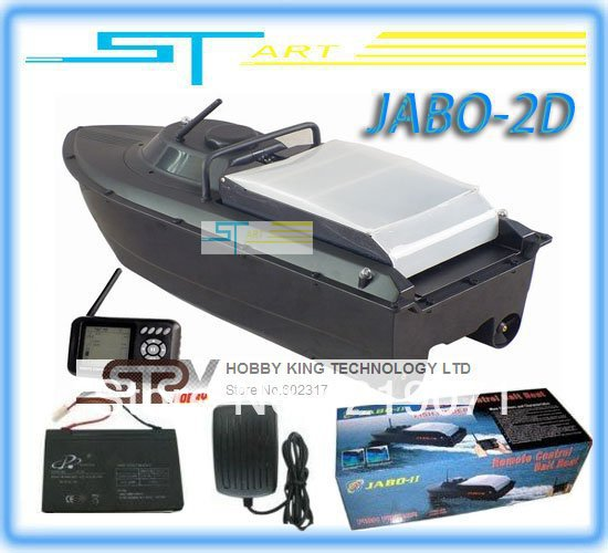 2014 Hot-sale remote control rc Bait Boat JABO-2D With Fish Finder & Backward turning & Spot turning RTR jabo 2d + Free Shipping
