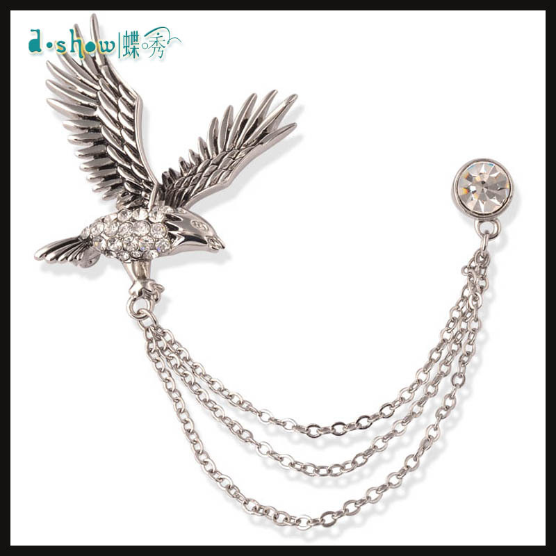 Cool Style Eagle design Brooch Pin Collar - Deshow Jewelry Factory store