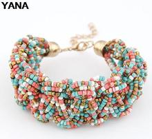 YANA Jewelry Good Quality Bohemia 6 Colors Beads Bracelet For Woman 2015 New bracelets & bangles Christmas Gifts HOT(China (Mainland))