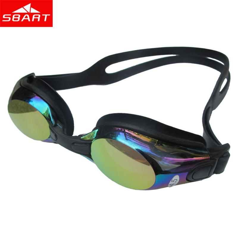 SBART Professional Swimming Goggles Adult Prescription Anti Fog UV Swim Eyewear Swimming Glasses For Men Waterproof Eyeglass N(China (Mainland))