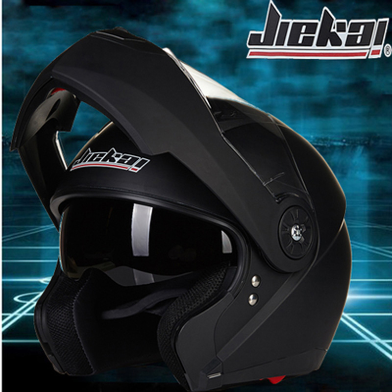 JIEKAI 115 Double Visor Modular Flip Up helmet motorcycle helmet racing Motorcross helmet DOT approved Size M-XL 7 Colors(China (Mainland))