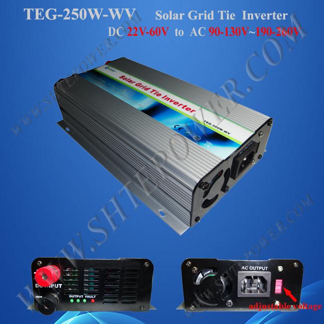 solar power inverter 250w,pure sine wave inverter ,dc to ac 24v to 220v solar grid tie inverter(China (Mainland))
