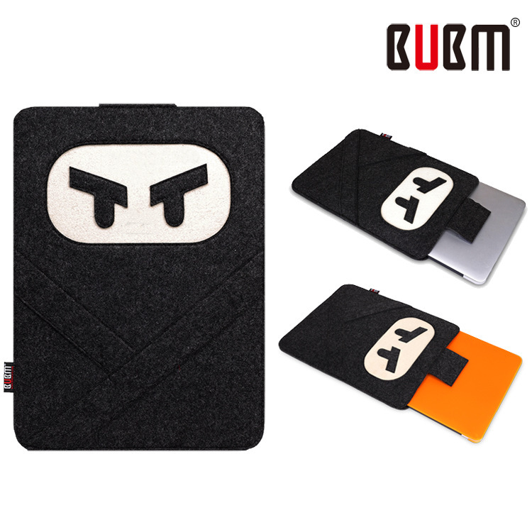 BUBM quality felt laptop bag 11.6 13.3 15.4 inches Notebook Sleeve Computer protection bag envelopes(China (Mainland))