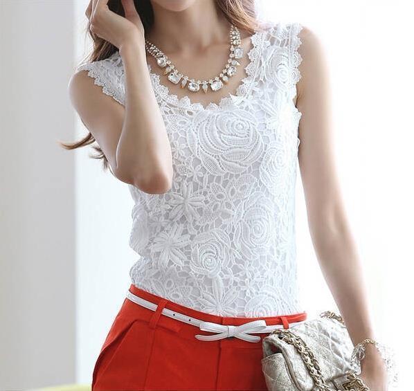 Blusas Femininas 2016 verão mulheres blusa Vintage mangas de Renda crochê Casual Plus Size ml XL XXL(China (Mainland))