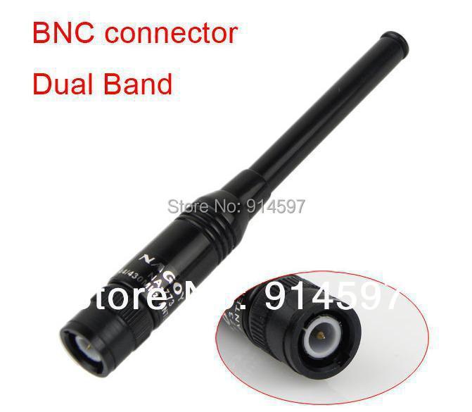 Free shipping NA-773 dual band walkie talkie telescopic antenna NA773 BNC for two way radio ICOM IC-V8 IC-V82 IC-V85(China (Mainland))