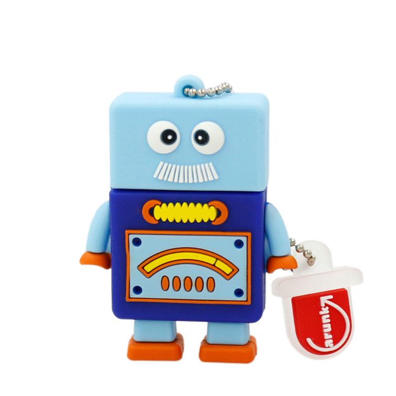 Garunk Pendrive Minions USB 2.0 Flash Drive Robot 64GB 32GB 16GB 8GB android Pen drive Memory stick U Disk pendrive automaton(China (Mainland))