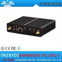 Baytrail fanless Nuc mini pc barebone system with Dual HDMI USB 3.0 Intel Celeron N2810 BayTrail dual core 2.0Ghz CPU palm sized
