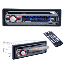 2016 12V Car Stereo FM Radio MP3 Audio Player Support FM USB SD DVD Mp3 Player AUX Mic with Remote Control radio In-Dash 1 DIN(China (Mainland))