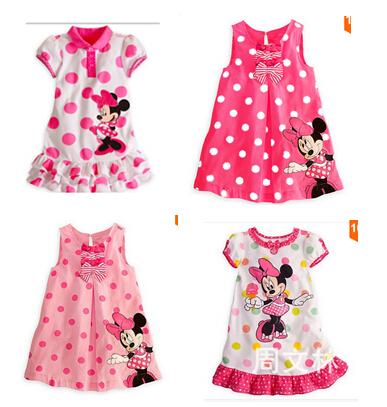 RQ00037 Free Shipping 2014 New Children's Dresses Baby Girl Dress Cartoon Designer  Kids Dresses  Wholesale and  Retail(China (Mainland))