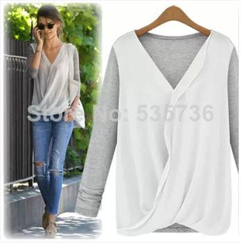 Женские блузки и Рубашки Europe and America 3SIZE s/xl , v/8242 блузки и рубашки