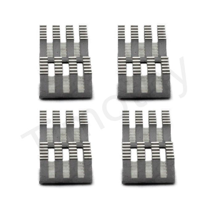Hot! FREE SHIPPING 8pcs Cooling Shim Pad Thermal CPU GPU VGA RAM Heat Sinks Spreader Memory Cooler For DDR DDR2 DDR3 RAM #DN031(China (Mainland))