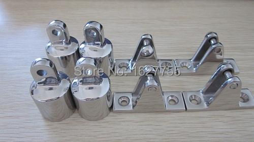 Marine Hardware 304 Stainless Steel Deck Hinge & End Cap-BIMINI TOP KITS- package sell(China (Mainland))