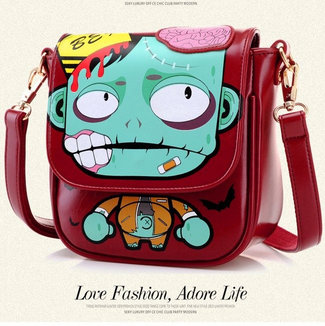 2014 new candy colored cartoon printing fashion handbags shoulder women messenger bags lovely PU leather - ShenZhen Webuy E-Commerce Co., Ltd. store