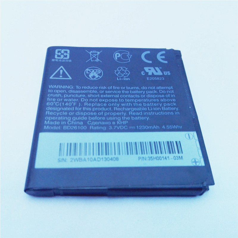 2* 1230mAh Battery Cell Phone Accessories Parts BD26100 For HTC Desire HD G10 A9191 T8788 T9188 T9199(China (Mainland))