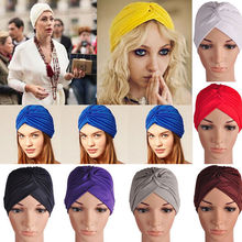 Turbante Headwrap Gorros Turbantes Mujer Cappelli Turbante Indian Turban Hat Headband Wrap Cap Cloche Bandanas Women's hats(China (Mainland))