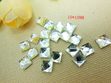 20PCS Nail decorative glass Luggage Accessories 6 * 6 squares White and brown(China (Mainland))