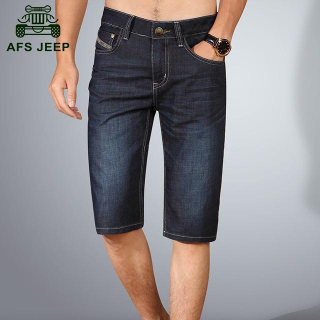 АФН JEEP 2016 Лето хорошее качество мужская повседневная марка прямые джинсы джинсы ...