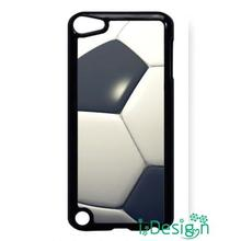 Fit for iphone 4 4s 5 5s 5c se 6 6s plus ipod touch 4/5/6 back skins cellphone case cover Soccer Ball Football Black