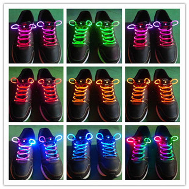 Гаджет  Freeshiping Lighting Flash Light Up Sports Skating LED Shoe Laces Shoelaces Shoestrings Cool  15 colors can be choose None Обувь