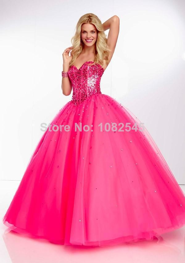 American style sequin sweetheart pink orange blue tulle for Pink and orange wedding dresses