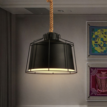 Buy Retro Pendant Lights Fixture American Country Hemp Rope Droplights Cafes Pub Lamp Restaurant Hanging Lights Home Lighting D33cm for $236.55 in AliExpress store