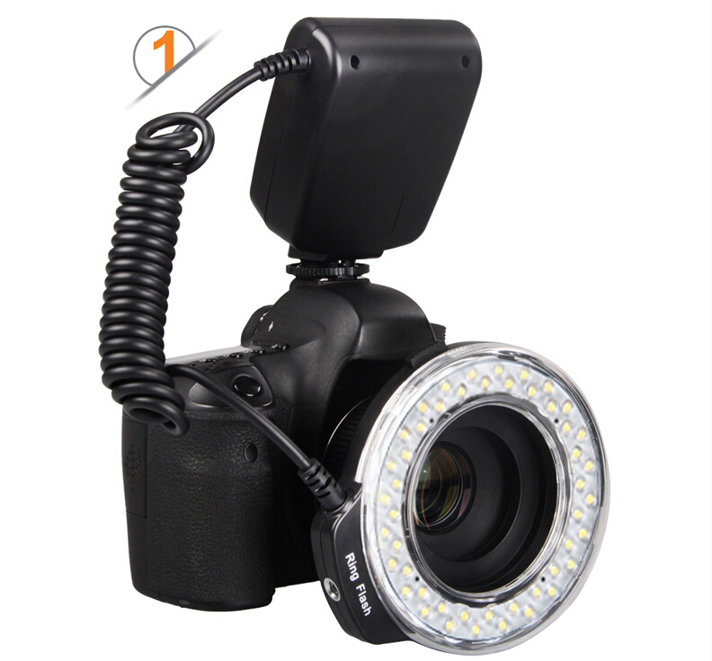 LED Macro Ring Flash light Macro flash for all models SLR cameras +4 Diffusers +1 Flash Trigger photoflash lamp strobe light <br><br>Aliexpress