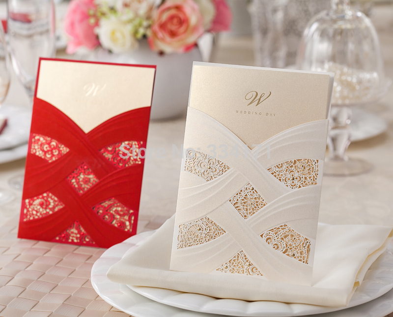 50pcs/set 2014 fall newly arrival free envelop and free seal Wedding Invitation pocket card CW060 076(China (Mainland))