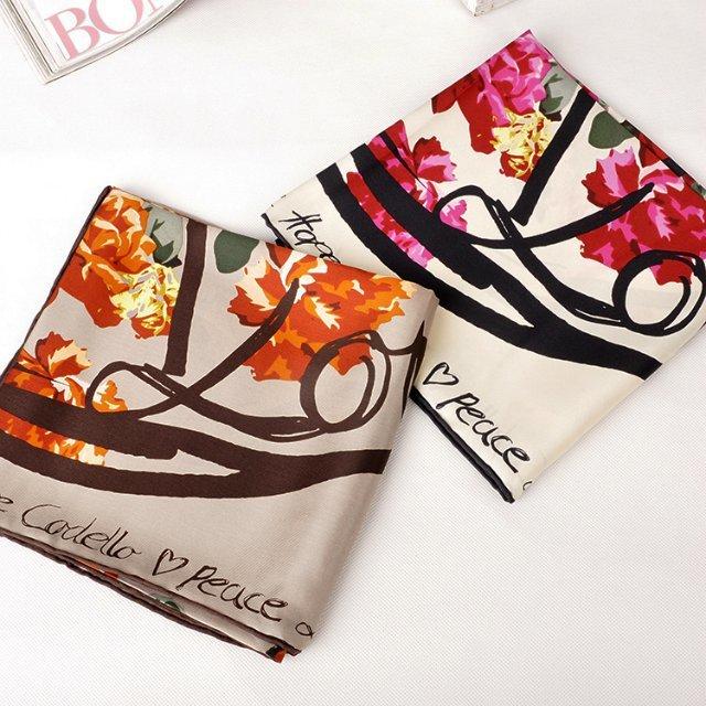 90x90cm square scarf hot sale silk bandana tribal print summer silk scarf free shipping(China (Mainland))