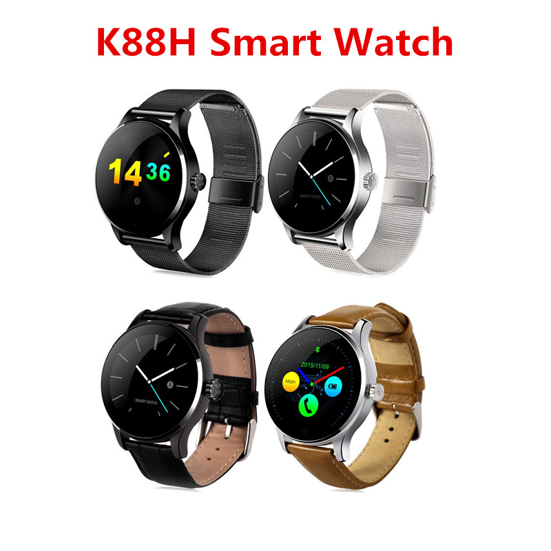 K88H Smart Watch Pulse Monitor Fitness Tracker Wristwatch BL4.0 Android iOS Pedometer Watches OLED Fashion Wristwatch