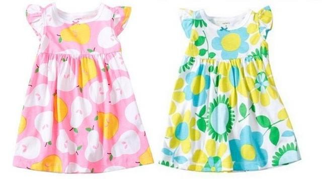 2013 summer Carter's 100% cotton baby girls dress/ baby dress/ girl dress for 3M-12M free shipping