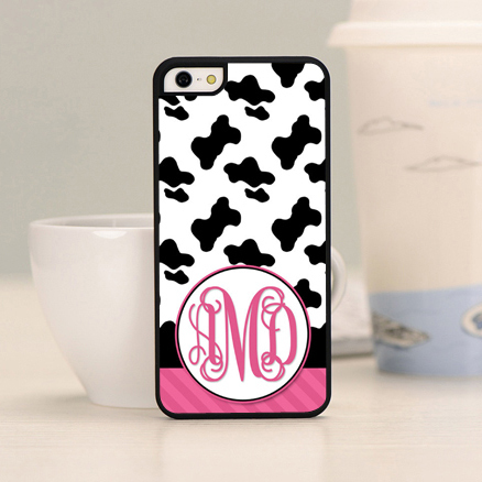 1pc Cow Print and Pink cow marketing Personalized image Black Cover Case For iPhone 4 4s 5 5c 5s 6 6plus(China (Mainland))