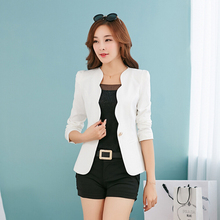 New Fashion 2016 Spring autumn Women Suit Jacket Coat Solid color slim OL ladies work wear