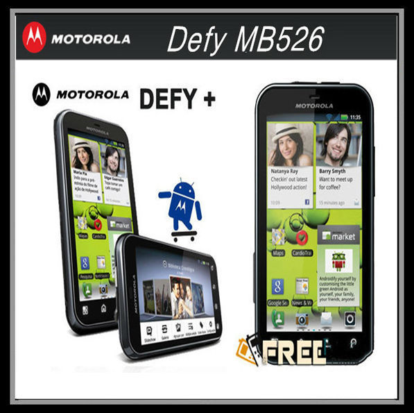 "MB526 MOTOROLA Original Unlocked mobile phone 5.0MP Android 3.7"" DEFY+ Dust & Water Resistant(China (Mainland))"