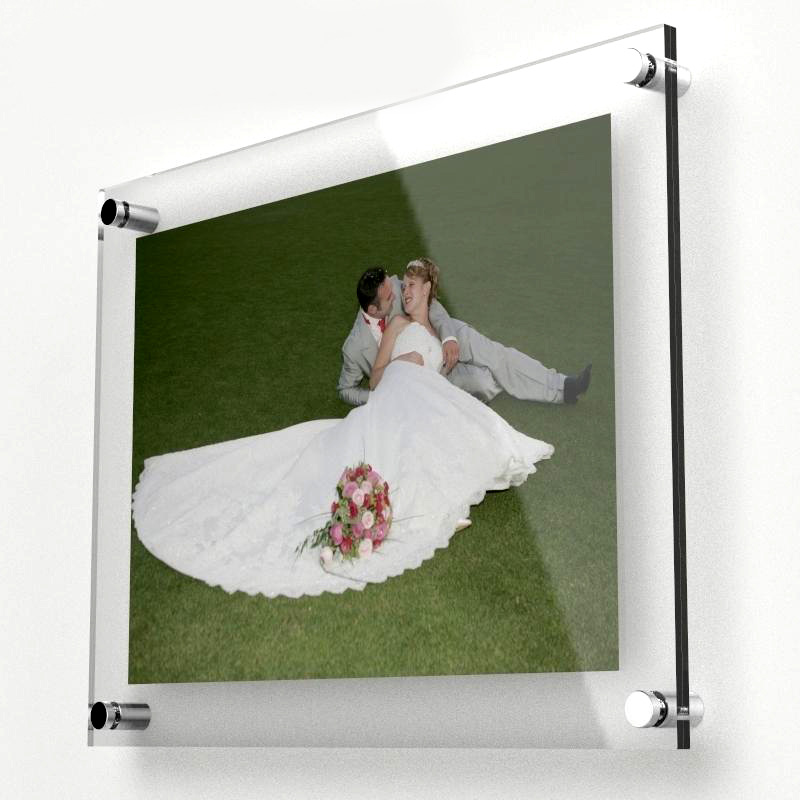 """(GT4162-14inch) Wall Mounted Acrylic 14""""x10"""" Photo Picture Frame,Clear Hanging Poster Holder Display Panel(China (Mainland))"""