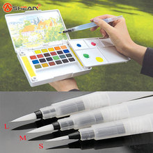 Refillable 1 Pc Water Brush Ink Pen for Water Color Calligraphy Drawing Painting Illustration Pen Office Stationery(China (Mainland))