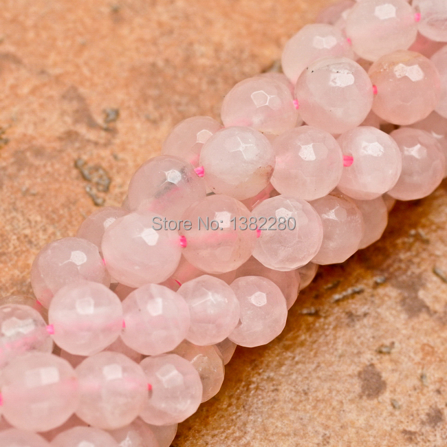 "Free shipping! Natural Rose Quartz 6mm Faceted Jade Beads,Pink Jade Beads For 15"" DIY Jewelry Making JT5220(China (Mainland))"