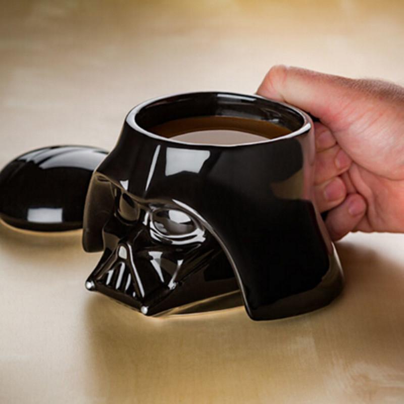 Creative Black White 3D Ceramic Cup Mug Star Wars Porcelain Drinking Mug for Coffee Water Novelty Drinkware Gift(China (Mainland))