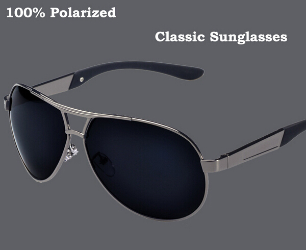 2015 New Fashion Men's Polarized Sunglasses Driving Aviator Coating Mirrors Eyewear Sun Glasses for Men UV400 High quality Brand(China (Mainland))