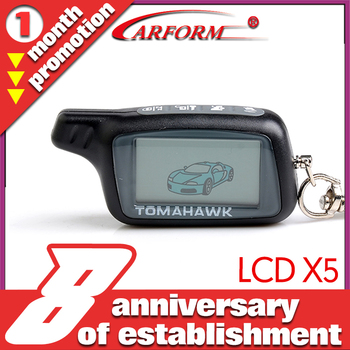 LCD remote controller for Tomahawk X5  two way car alarm system Certification with CE Free shipping