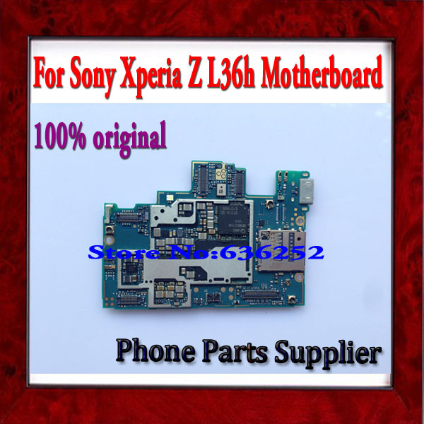 100% Original & Good Working Unlocked Main Board Circuit For Sony l36h Xperia z Motherboard with Chip Free Shipping