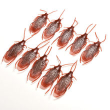 10pcs/lot Prank Funny Trick Joke Toys Special Lifelike Model Simulation Fake Rubber Cockroach Cock Roach Bug Roaches Toy(China (Mainland))