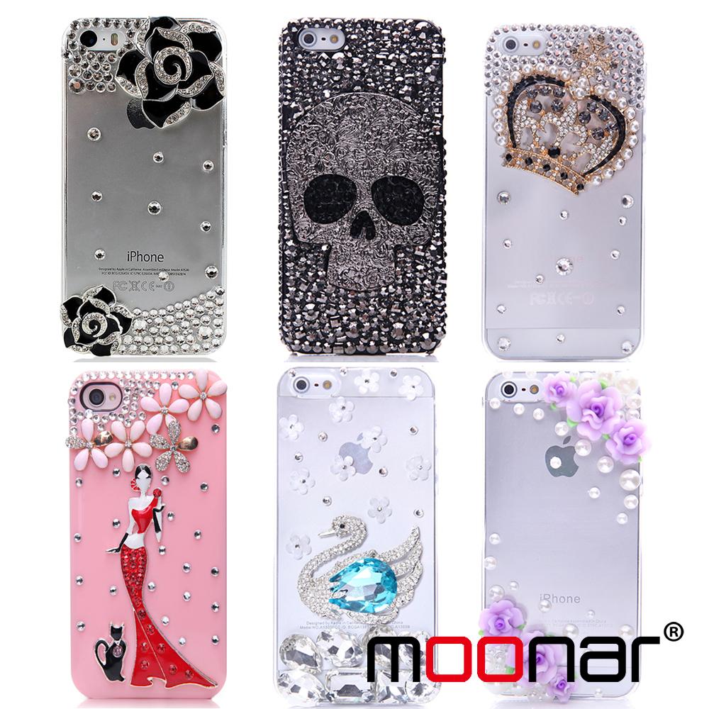 19 Styles Rhinestone Case For Apple iPhone 5 5S 5G Crystal Diamond Skull Crown Hard Back Skin Phone Case Protector #7(China (Mainland))
