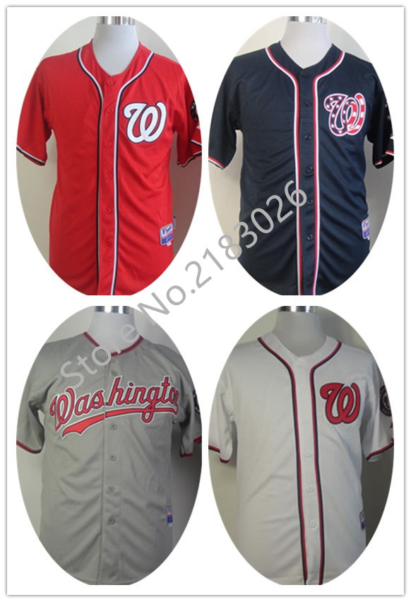 High Quality #34 Bryce Harper Jersey Cheap Washington Nationals Jersey Baseball #37 Stephen Strasburg Blue/Red Stitched Jerseys(China (Mainland))