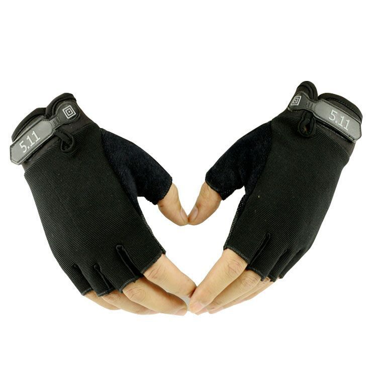 Free shipping 511 Half Finger Glove Men And Women Summer Outdoors Ride Be In Luck Action Bodybuilding Tactic Real Person(China (Mainland))
