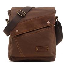 Good Durability Vintage Canvas Leather Bags Men Messenger Shoulder Bags Casual Crossbody Satchel Bolsas Bolsa Sports Bag(China (Mainland))